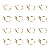 ARRICRAFT 500PCS Golden Brass Lever Back Hoop Earrings Lead Free & Cadmium Free Size 10x15mm