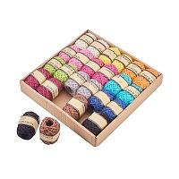 Hemp Cord, Hemp String, Hemp Twine, Fixed Color, 2mm; 10m/roll; 12color/box, 2roll/color