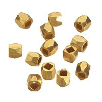 Nbeads Golden Alloy Faceted Column Bead Spacers, 3x3mm, Hole: 1.5mm