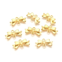 Arricraft Alloy Links/Connectors, for Jewelry DIY Craft Making, Lead Free and Cadmium Free, Bowknot, Golden, 20mm long, 10mm wide, 3mm thick, hole: 2mm; about 24pcs/20g