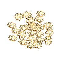 ARRICRAFT 1000pcs Flower Shape More-Petal Iron Bead Caps Spacers for Jewelry Making, Golden