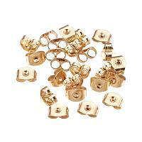ARRICRAFT 100 Pcs Stainless Steel Ear Nuts Golden Earring Back Nut Earnut Clasp Stopper Butterfly Clutches Jewelry Earring Components Making Findings, 3x6x4mm, Hole: 0.7mm
