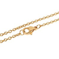 NBEADS 10 Strands 17.7 Inch Gold Plated Cross Chain Necklace Link Cable Chain Charms with Lobster Clasps for Jewelry Making