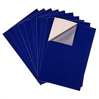 "BENECREAT 20PCS Velvet (DarkBlue) Fabric Sticky Back Adhesive Back Sheets, A4 Sheet (8.3"" x 11.8""), Self-Adhesive, Durable and Water Resistant, Multi-Purpose, Ideal for Art and Craft Making"