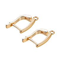 BENECREAT 6 PCS  Gold Plated Hoop Earrings for DIY Making Findings - 20.3x11mm