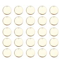 ARRICRAFT 100 Pcs 304 Stainless Steel Flat Round Blank Stamping Tag Pendants Charms Diameter 15mm Jewelry Making Golden