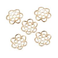 ARRICRAFT About 10pcs 304 Stainless Steel Bead Caps for Bracelet Necklace Earrings Jewelry Making Crafts, Flower, 6-Petal, Golden, 14x13x1.5mm, Hole: 2~2.5mm