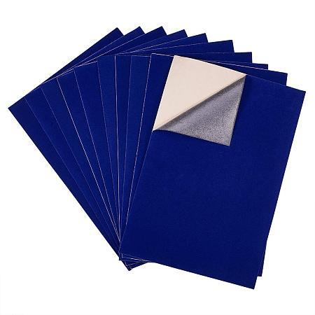 BENECREAT 20PCS Velvet (DarkBlue) Fabric Sticky Back Adhesive Back Sheets, A4 Sheet (8.3