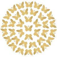 NBEADS 120 Pcs Golden Butterfly Charms, Brass Mini Butterfly Animal Pendants for DIY Jewelry Necklace Bracelet Making