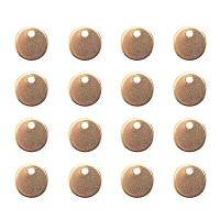 ARRICRAFT 100 Pcs 304 Stainless Steel Charms Flat Round Blank Stamping Tag Pendants Sets Smooth Surface for Bracelet Earring Pendant Charms Size 8x1mm Golden