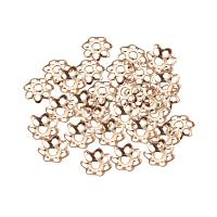 ARRICRAFT 1000pcs Flower Shape More-Petal Iron Bead Caps Spacers for Jewelry Making, Light Gold