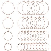 PandaHall Elite 120pcs 4 Sizes Round Beading Hoops Wine Glass Charms Findings Open Hoop for Distinguish Wire Glasses Making Jewelry Art Project Wine Parties Wedding Evening Favor