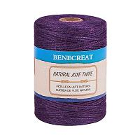 BENECREAT 656 Feet 2mm Natural Jute Twine 3Ply Purple Jute String Rope for Gardening, Gift Packing, Arts & Crafts and Party Decoration