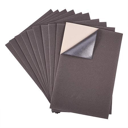 BENECREAT 20PCS Velvet (Gray) Fabric Sticky Back Adhesive Back Sheets, A4 Sheet (8.3