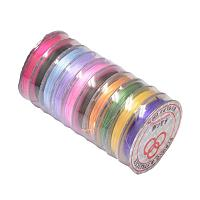 NBEADS 10 Rolls of Colorful Elastic Fibre Wire 0.8mm; 10m/roll