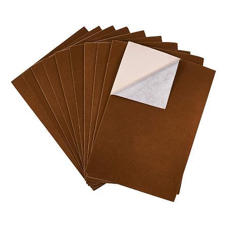 BENECREAT 20PCS Velvet (Sienna) Fabric Sticky Back Adhesive Back Sheets, A4 Sheet (8.3