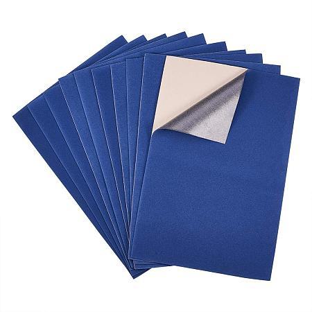 BENECREAT 20PCS Velvet (MarineBlue) Fabric Sticky Back Adhesive Back Sheets, A4 Sheet (8.3