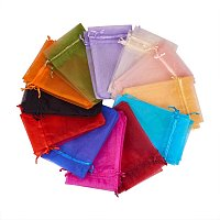 ARRICRAFT 200PCS 4x6 Inches Mixed Color Organza Gift Bags with Drawstring