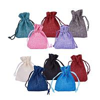 """ARRICRAFT 10pcs Burlap Packing Pouches Drawstring Bags 2.7x3.5"""" Gift Bag Jute Packing Storage Linen Jewelry Pouches Sacks for Wedding Party Shower Birthday Christmas Jewelry DIY Craft, Mixed Color"""