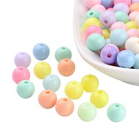 ARRICRAFT 200 PCS Mixed Color Solid Chunky Bubblegum Acrylic Ball Beads 8mm Round Bead Bulk Lots for Jewelry Making