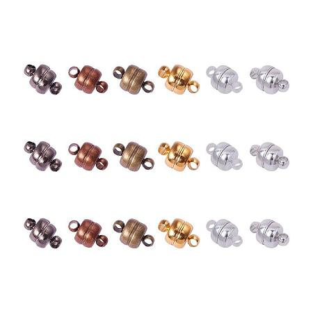 ARRICRAFT 100 Sets 11x7mm Mixed Color Oval Brass Magnetic Clasps