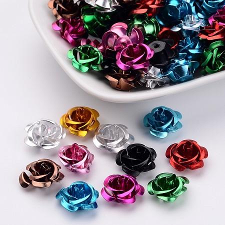 ARRICRAFT 100pcs Aluminum Rose Flower Tiny Metal Beads Size 15x9mm