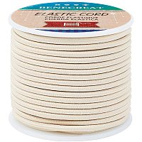 BENECREAT 3mm Smoke White Elastic Cord 20m/21 Yard Stretch Thread Beading Cord Fabric Crafting String Rope for DIY Crafts Bracelets Necklaces