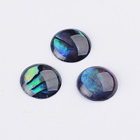 ARRICRAFT Abalone Shell/Paua Shell Cabochons, Half Round/Dome, Colorful, 8x1~1.5mm