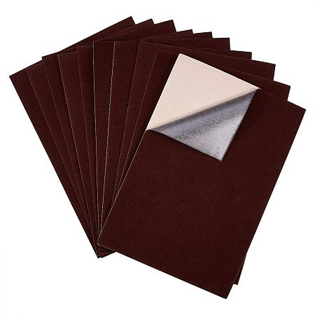 BENECREAT 20PCS Velvet (CoconutBrown) Fabric Sticky Back Adhesive Back Sheets, A4 Sheet (8.3