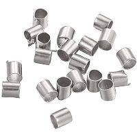 Arricraft 10000Pcs Platinum Brass Column Tube Crimp Beads with Large Hole for Bracelet Jewelry Making(2x2mm)