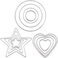 PH PandaHall 12 pcs Metal Rings Hoops, Star/Heart/Round Macrame Rings Craft Rings Floral Hoop for Wreaths Macrame Projects Dream Catcher Making, 4 PCS/Size