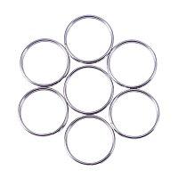NBEADS 50PCS 304 Stainless Steel Round Edged Split Circular Ring Key Rings Key Chain Ring Clips for Home Car Keys Organization - 0.59'' 15mm Diameter