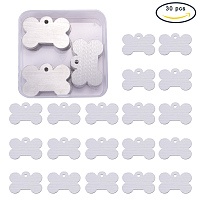 BENECREAT 30 Pack Stamping Blanks Aluminum Blank Pendants for Bracelet Earring Pendant Charms Dog Tags - 1.57x1 Inch, Dog Bone Shape