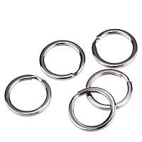 PandaHall Elite 304 Stainless Steel Key Chain Parts Clasp Diameter 32mm Key Rings Findings, 5pcs/bag