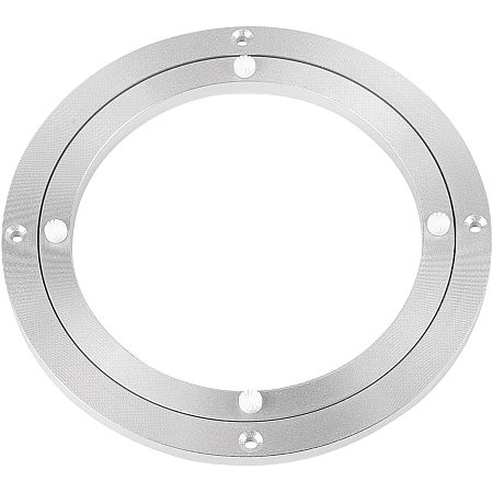 Arricraft Platinum Aluminum Turntable Ring, Lazy Susan Ball Bearing, Silence Swivel Table for Dining Table, Home Project, Cake Showcase, Paint Spraying, Replacement (Outer: 7.9