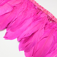 Fashion Goose Feather Cloth Strand Costume Accessories, DeepPink, 100~180x38~62mm; about 2m/bag