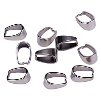 PandaHall Elite 13x7mm 304 Stainless Steel Pinch Bails Dangle Charms Jewelry Findings, about 10pcs/bag