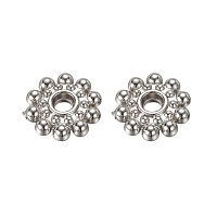 NBEADS 100 Pcs 8mm Acrylic Platinum Flower Spacer Beads CCB Style Bead Spacers for DIY Jewelry Making Findings