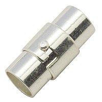 ARRICRAFT 50 Sets Silver Column Brass Magnetic Screw Clasps 15x5mm, Hole: 4mm