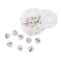 ARRICRAFT 1 Box 20 Pcs Round Brass Rhinestone Beads Grade A Spacers 8mm for Jewelry Bracelet Necklace DIY Making Crystal