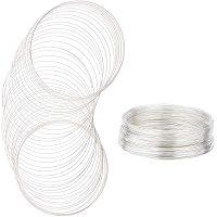 BENECREAT 250 Loop Jewelry Wire Silver Memory Beading Wire Bangle Bracelet Wire for Wire Wrap DIY Jewelry Making (22 Gauge, 115mm)