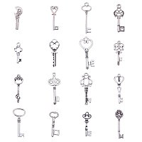 ARRICRAFT 60pcs/100g Antique Silver Mixed Key Tibetan Style Alloy Pendants for Crafting Jewelry Making
