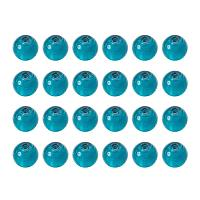 ARRICRAFT 20pcs Teal Handmade Round Lampwork Murano Silver Foil Glass Beads About 10mm in Diameter, Hole: 1.5~2mm
