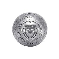 ARRICRAFT About 20pcs Tibetan Style Antique Silver Alloy Round Beads for Bracelets Jewelry Making, 10x8mm, Hole: 1.5mm