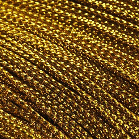 NBEADS 1000 M Metallic Cord, Dyed, Gold, 0.8mm