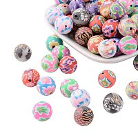 ARRICRAFT 200PCS Mixed Color Round Handmade Polymer Clay Beads 12mm