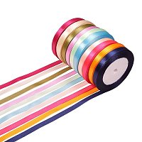 "ARRICRAFT 10 Rolls (25 Yards / Roll) 0.39"" Satin Ribbon Multicolor Tapes for Gift Wrapping Wedding Festival Decorating"