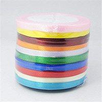 "SUNNYCLUE 10Rolls 1/4"" 25 Yards/Roll Pretty Ribbon for Festive Decoration DIY Crafts Arts & Garden, Mixed Color"