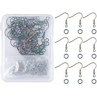 DIY Earrings Kits, with 201 Stainless Steel Earring Hooks and Vacuum Plating 304 Stainless Steel Open Jump Rings, Multi-color, 68x52x11mm