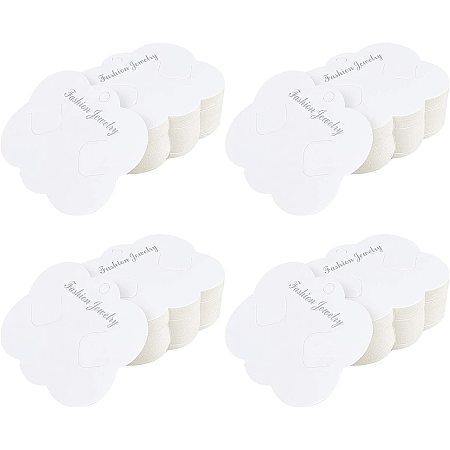 Cardboard Hair Clip Display Cards, Creamy White, 6.9x8.5cm